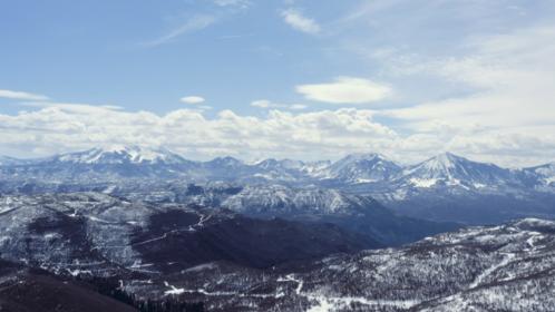 (4K) Aerial Rocky Mountains Landscape 3 Effect