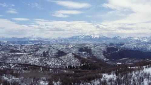 (4K) Aerial Rocky Mountains Landscape 4 Effect