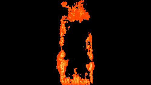 (4K) Door Fire Ignition 1 Effect