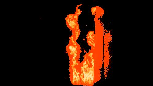 (4K) Door Fire Ignition 3 Effect