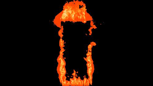 (4K) Loopable Door Fire 2 Effect