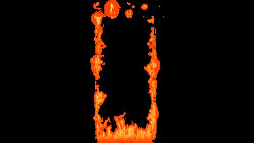 (4K) Loopable Door Fire 9 Effect