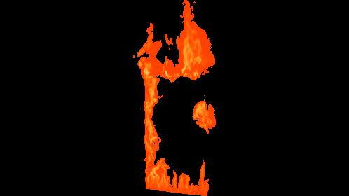 (4K) Loopable Window Fire 11 Effect