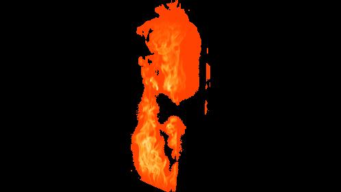 (4K) Loopable Window Fire 13 Effect