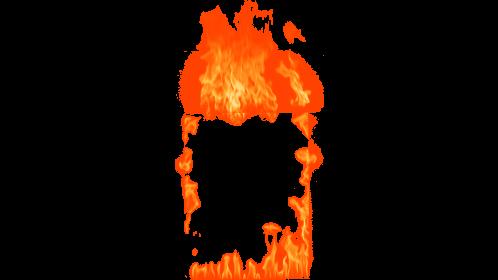 (4K) Loopable Window Fire 14 Effect