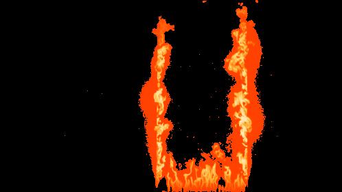 (4K) Loopable Window Fire 2 Effect
