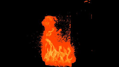 (4K) Loopable Window Fire 9 Effect