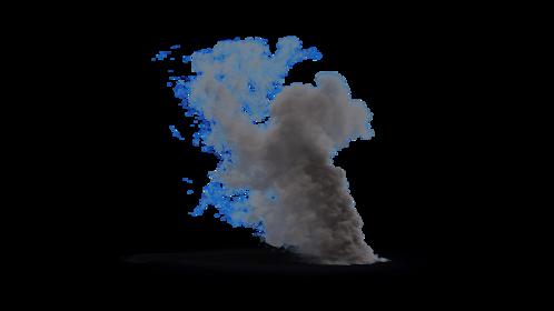 (4K) Looping Smoke Plume Small 1 Effect
