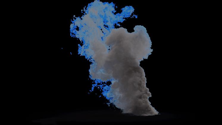 (4K) Looping Smoke Plume Small 3 Effect