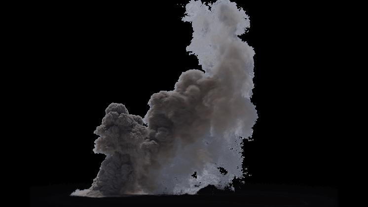 (4K) Looping Smoke Plume Small 7 Effect