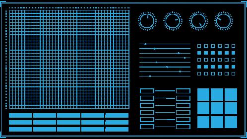 (4K) Modern HUD Screen Elements 2 Effect