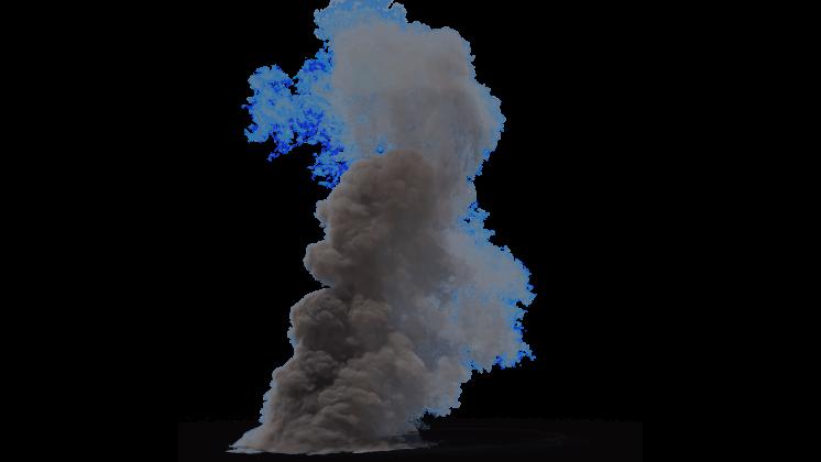 (4K) Smoke Plume Small 2 Effect
