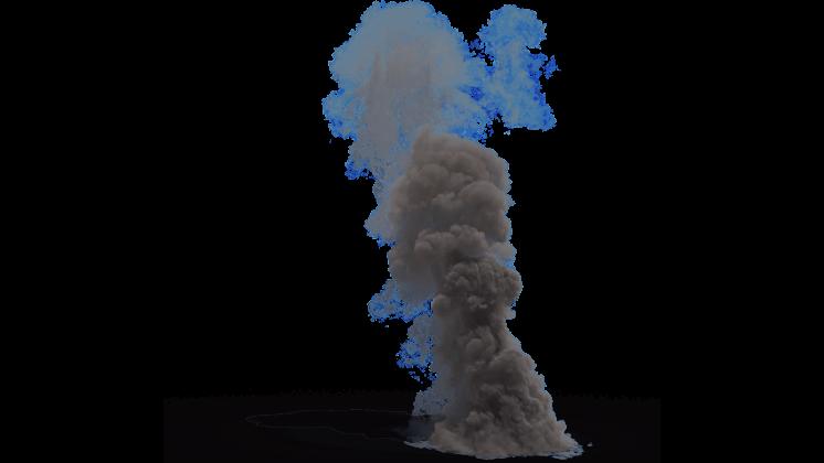 (4K) Smoke Plume Small 5 Effect