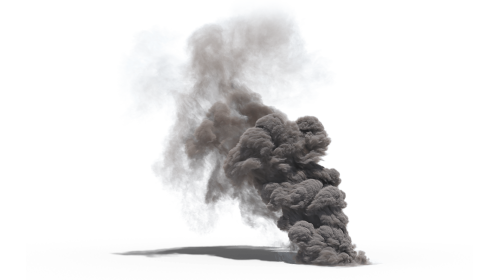 (4K) Smoke Plume Windy 2 Effect