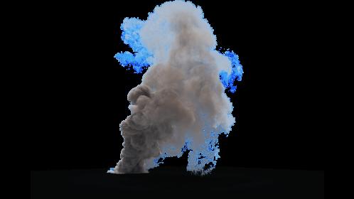 (4K) Smoke Plume Windy 4 Effect