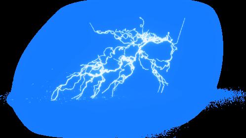 (4K) Super Lightning Ground With Sparks 62 Effect