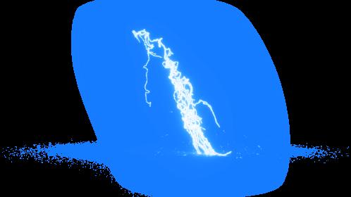 (4K) Super Lightning Ground With Sparks 69 Effect