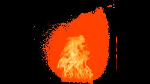 (4K) Window Fire Ignition 2 Effect