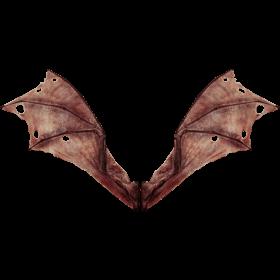 (4K) Demon Wings Red Back Open Effect