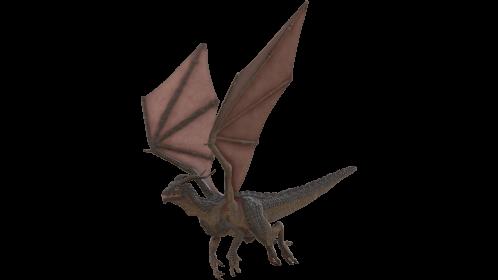 (4K) Looping Mountain Dragon Flying Front Quarter Effect