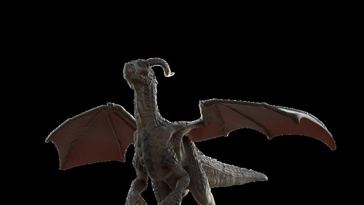 (4K) Mountain Dragon Walking Bottom Effect