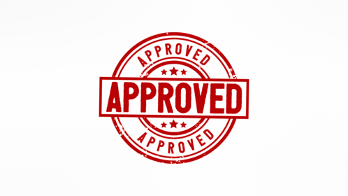 (4K) Circular Stamp Approved Effect