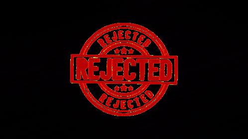 (4K) Circular Stamp Rejected Effect