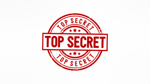 (4K) Circular Stamp Top Secret Effect
