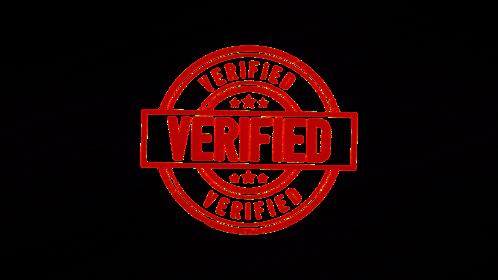 (4K) Circular Stamp Verified Effect