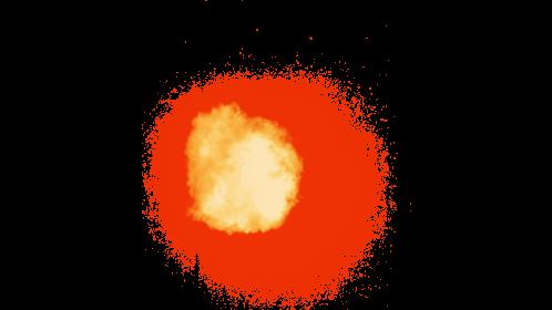 (4K) Fireball Front 3 Effect