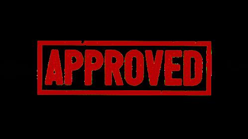 (4K) Rectangular Stamp Approved Effect