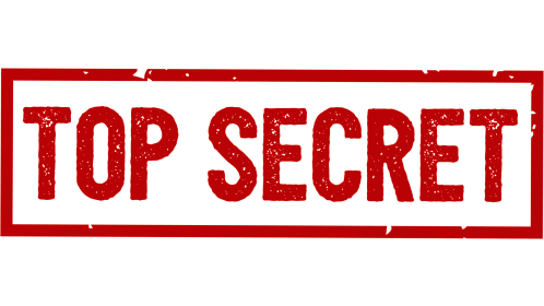 (4K) Rectangular Stamp Top Secret Effect