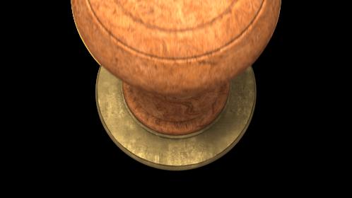 (4K) Wood Stamp Maker Circular Effect