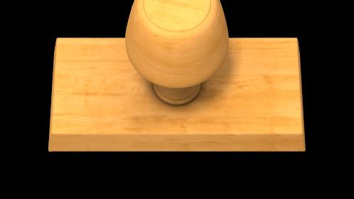 (4K) Wood Stamp Maker Rectangle Effect