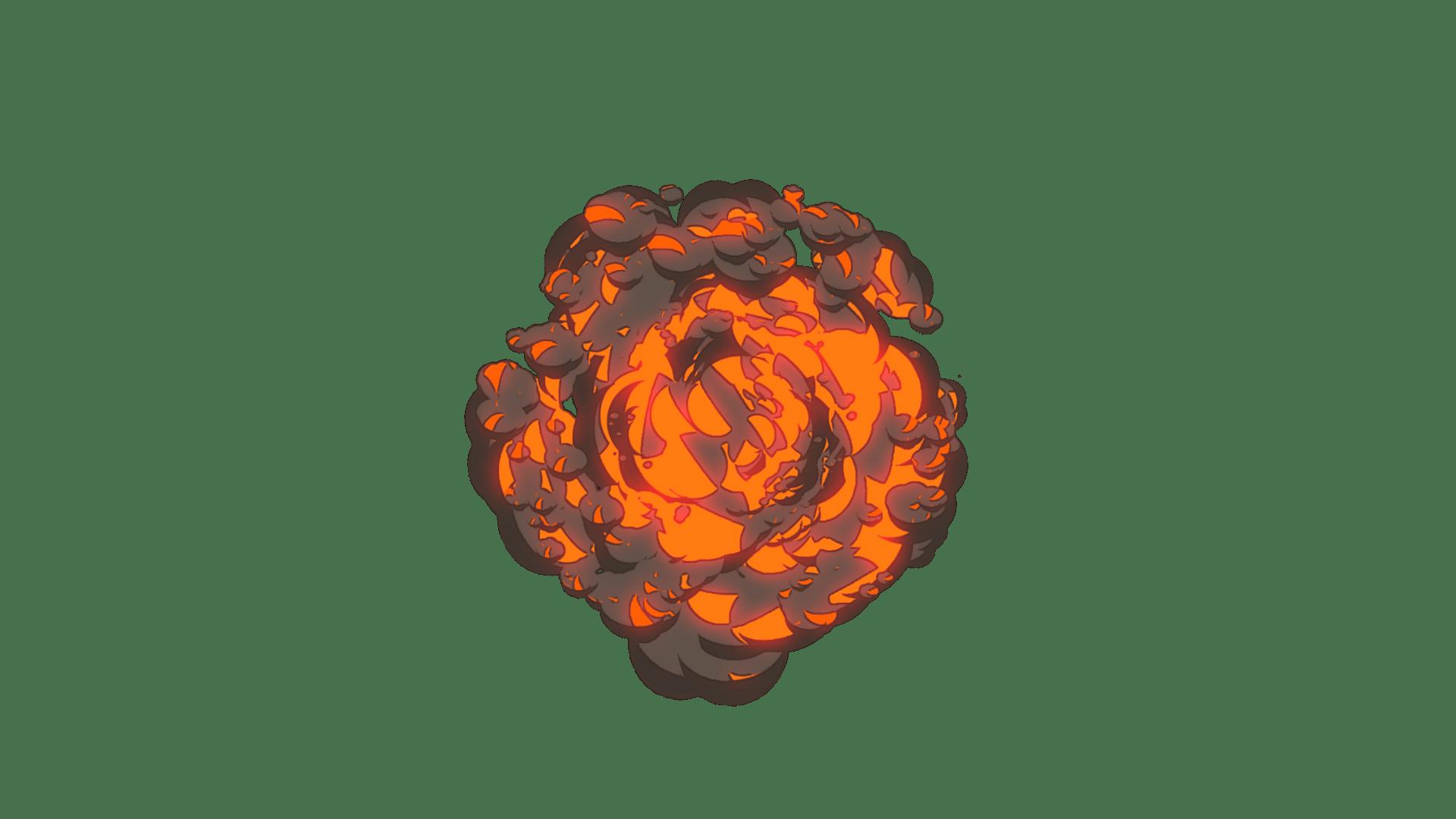 Cartoon Explosion Brown Smoke 5 - Video Effect | FootageCrate