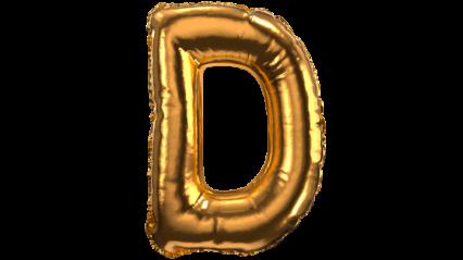 Balloon Font D HD 3K
