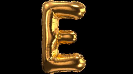 Balloon Font E HD 3K