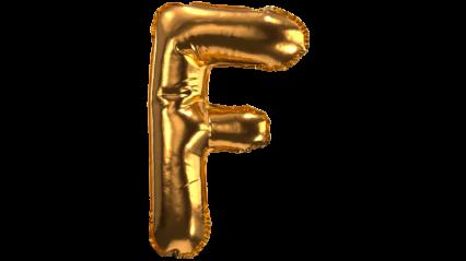 Balloon Font F HD 3K