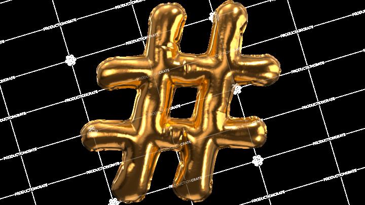 Balloon Font Pound Sign
