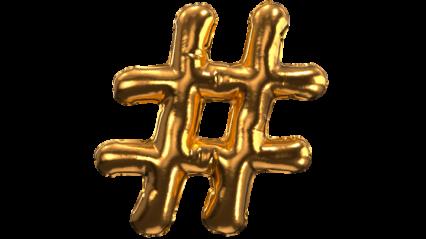 Balloon Font Pound Sign HD 3K