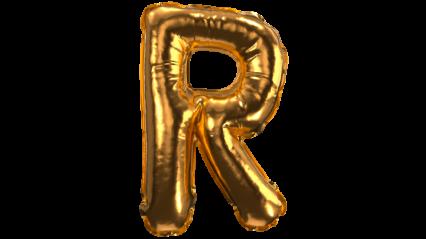Balloon Font R HD 3K