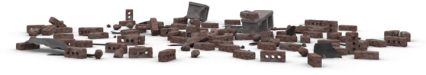 Brick Rubble Pile 14