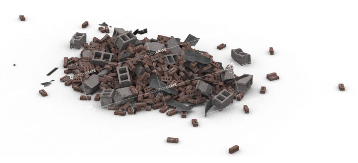 Brick Rubble Pile HD 3K