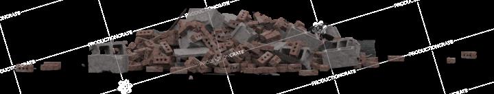 Brick Rubble Pile 3