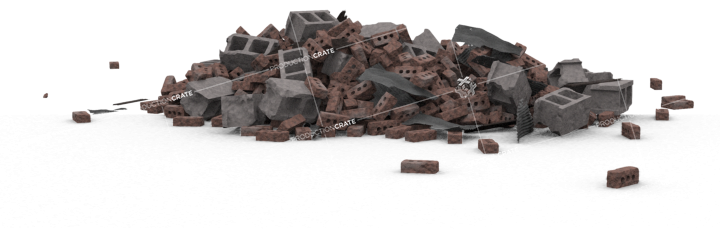 Brick Rubble Pile HD 2K