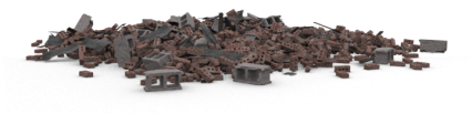 Brick Rubble Pile 5