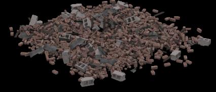 Brick Rubble Pile 8
