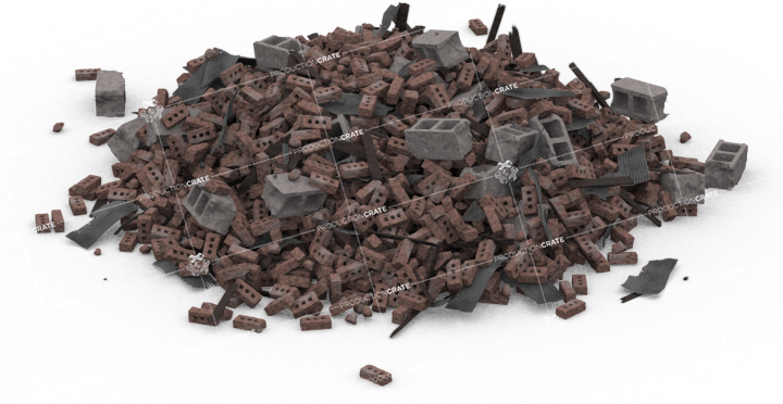 Brick Rubble Pile HD 2K