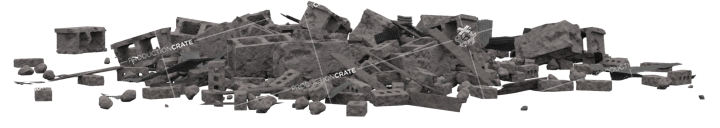 Concrete Rubble Pile HD 3K