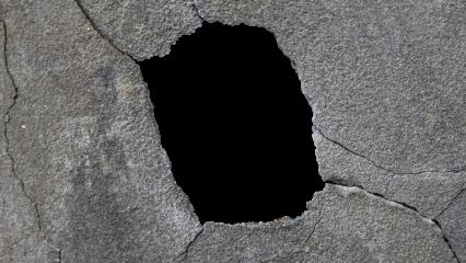 Cracked Hole 1 Surface HD 7K